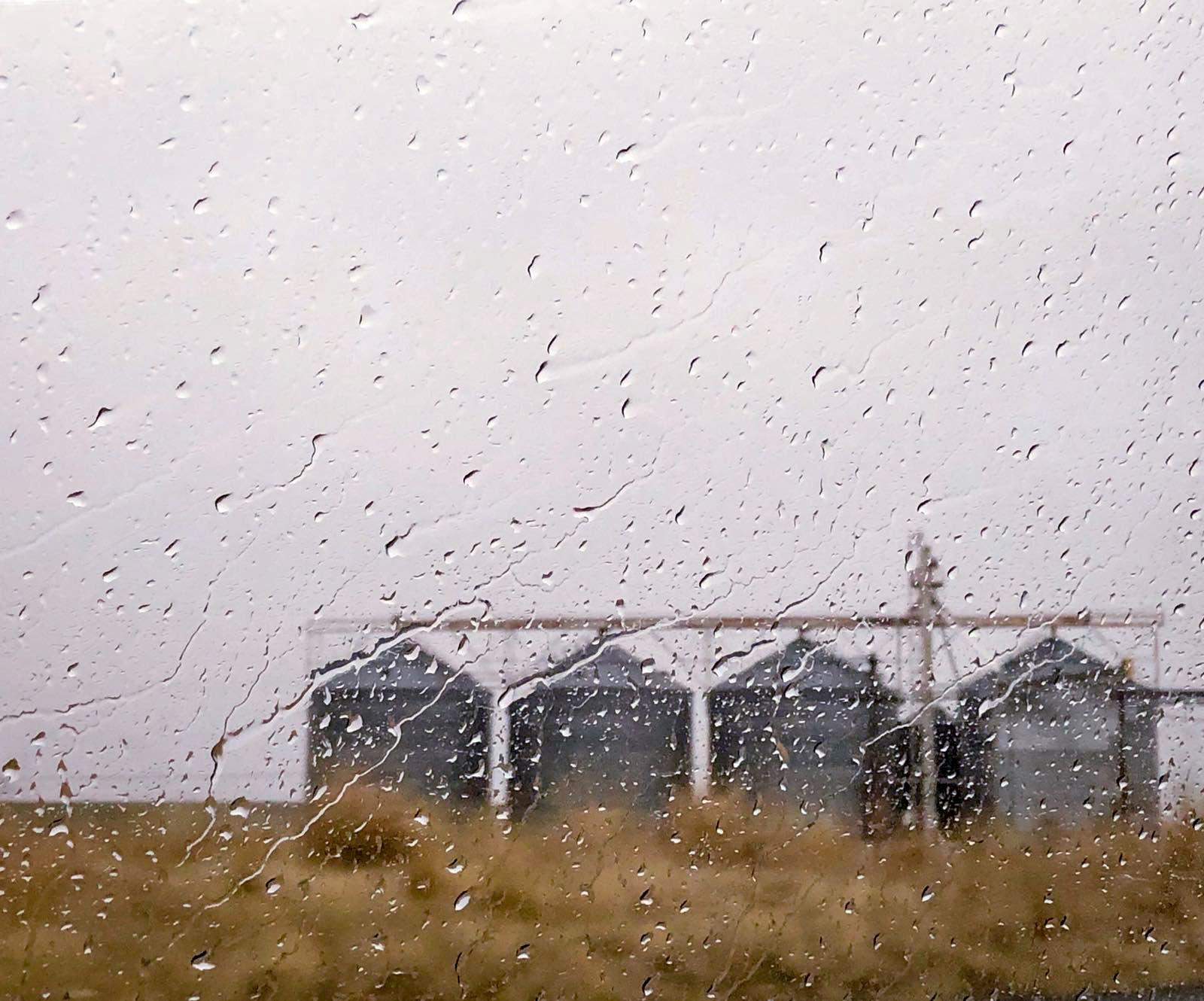 Rain on Silos